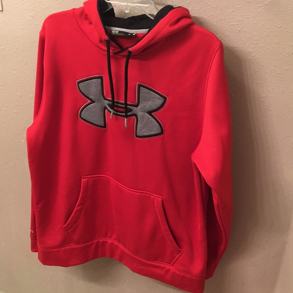 mens red under armour hoodie